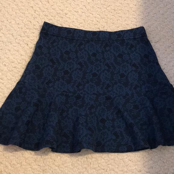 Forever 21 Floral Blue Mini Skirt